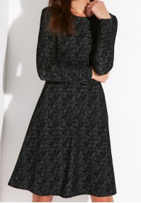 Szara Sukienka z kieszeniami