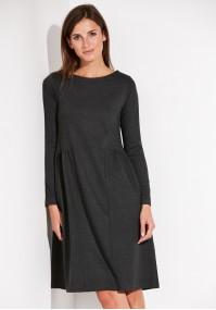 Luźna odcinana Sukienka