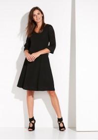 Czarna ażurowa Sukienka