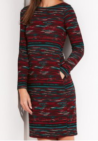 Knitted Dress with colorful Stripes