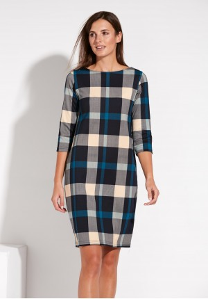 Dress with Turquoise check