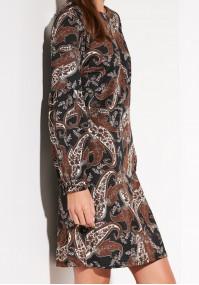 Brown Paisley Dress
