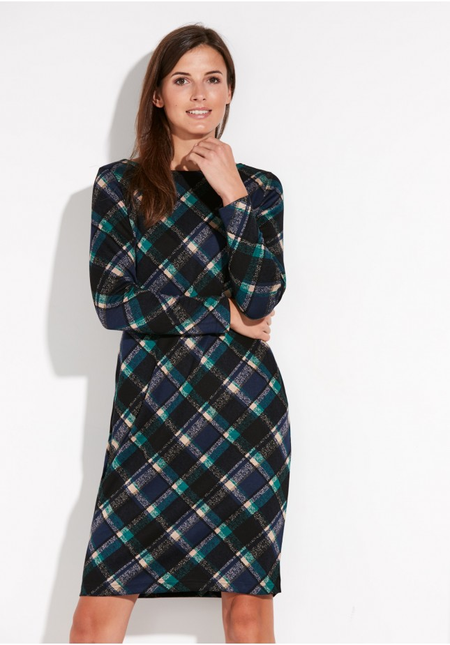 Black checked dress
