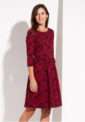 Bordowa elegancka Sukienka
