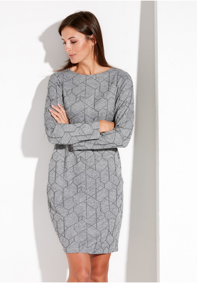 Gray Dress with Pockets