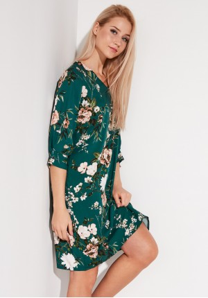Green Dress with flowers