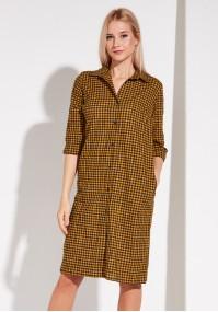 Sukienka koszulowa w Kratkę