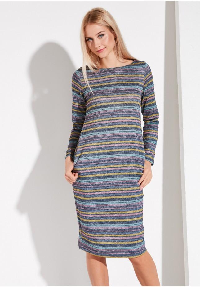 Sukienka w kolorowe paseczki