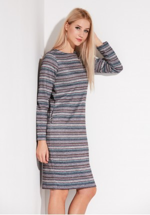 Warm striped Dress