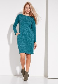 Ciepła turkusowa Sukienka