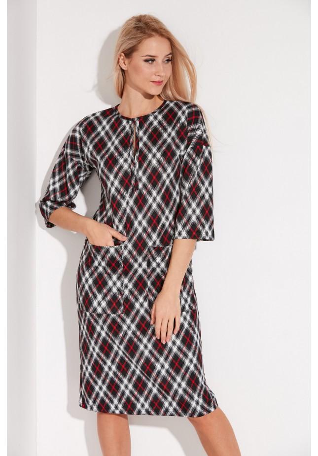 Midi checkered Dress