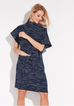 Navy blue Dress with semigolf