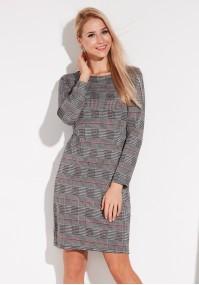 Waisted checkered dress