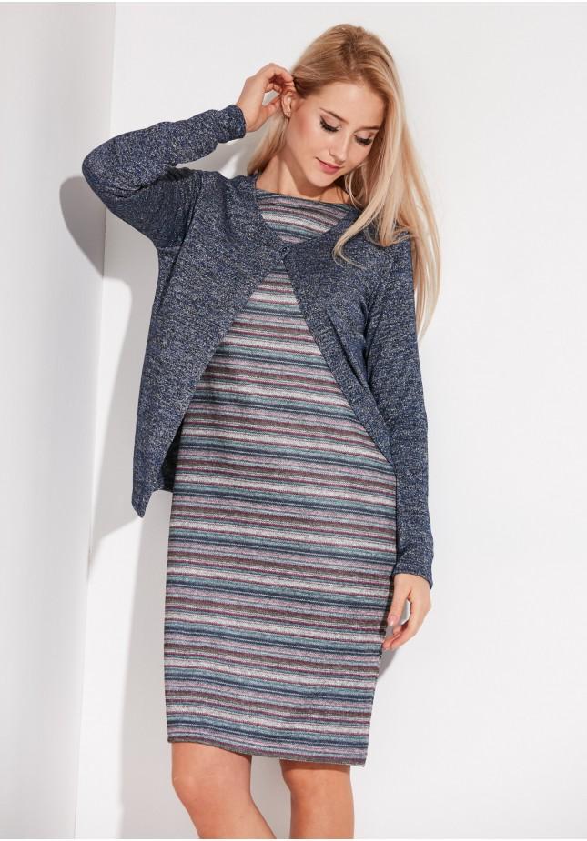 Navy Melange Sweater