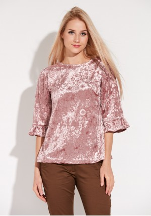 Pink Velor Blouse