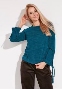 Sweter z wiązanymi rękawami