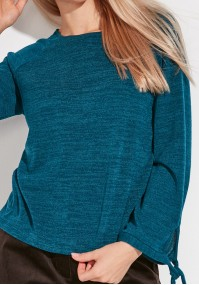Sweater with tied sleeves
