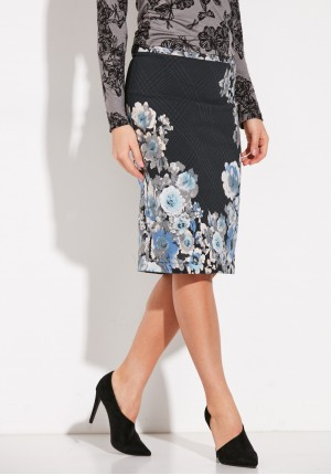 Pencil Skirt with flowers