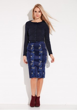 Navy Simple Skirt