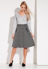 Flared shepherd's plaid skirt