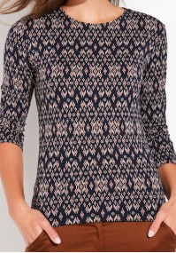 Patterned fitted Blouse