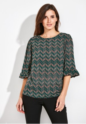 Herringbone Blouse