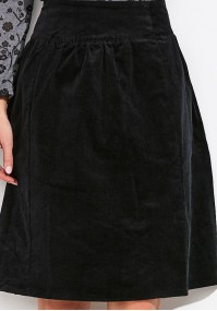 Flared Corduroy Skirt