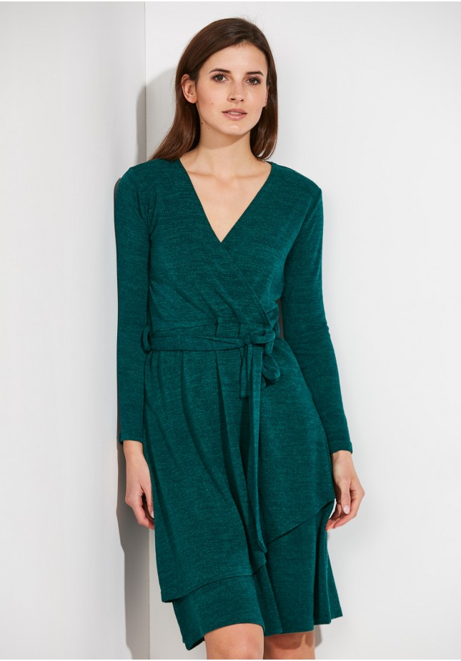 Zielona Sukienka z wiązaniem