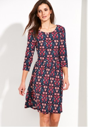Dress with colorful flowers