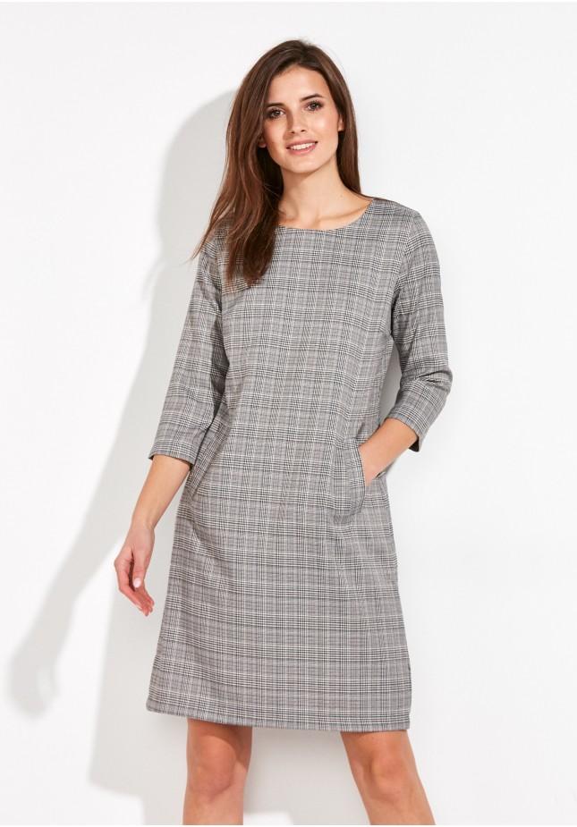 Sukienka w drobną kratkę