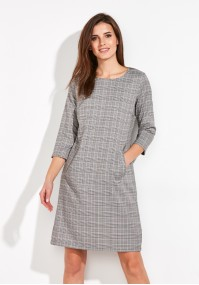 A tiny checkered Dress