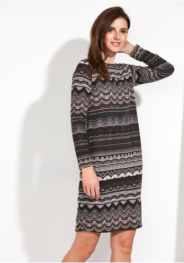 Knitted Dress with zigzags
