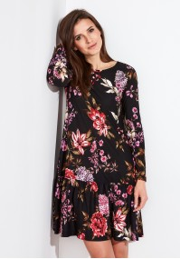 Kwiecista Sukienka z falbaną