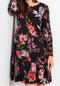 Flowered Dress with a frill