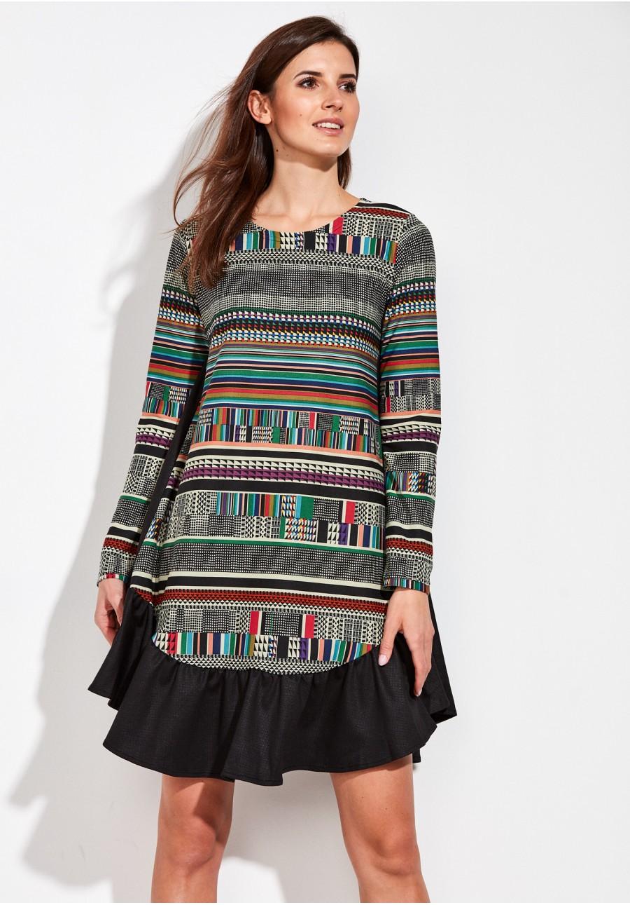 a61b59d5b8 Kolorowa Sukienka oversize