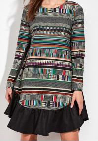 Kolorowa Sukienka oversize