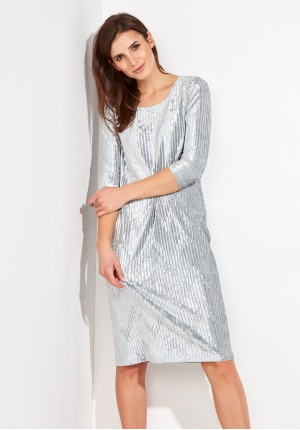 Velor Ribbed Dress