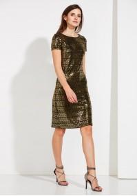 Sukienka w złote cekiny