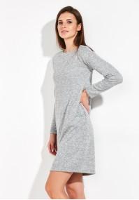 Ciepła siwa Sukienka