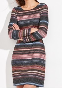 Pasiasta Sukienka z kieszeniami