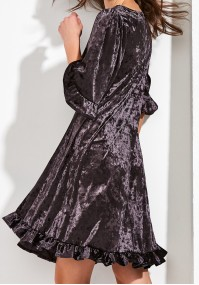 Trapezoid Velor dress