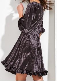 Trapezowa Sukienka z weluru
