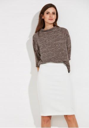 Biała ołówkowa Spódnica