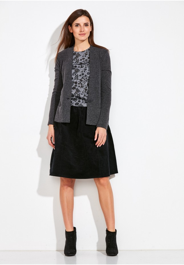 Gray Sweater with button
