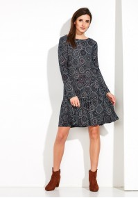 Dress with circles and with frill