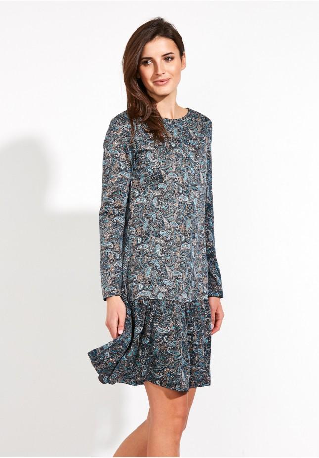 Sukienka Paisley z falbaną