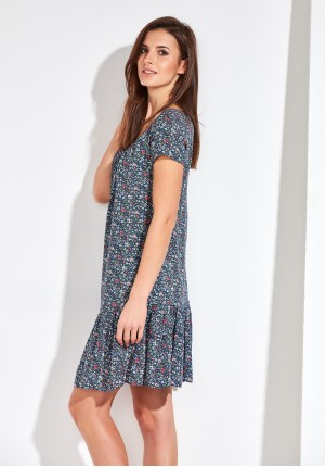 Floral Dress with neckline