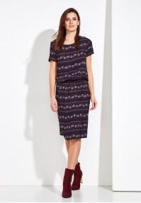 Kolorowa bluzowana Sukienka
