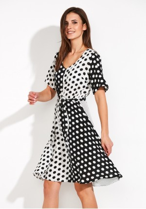 Checkerboard Dress in polka dots