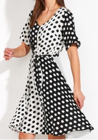 Checkerboard Dress in polka dots